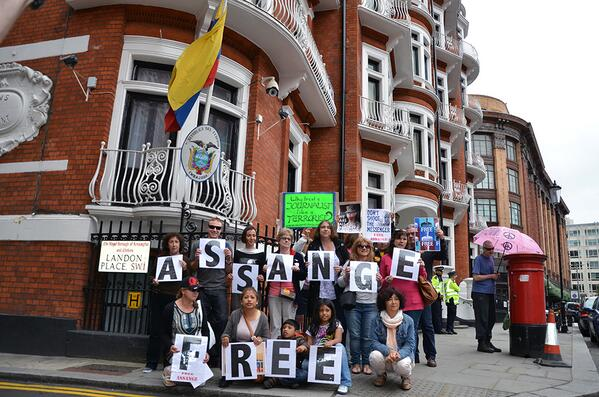 JULIAN Ecuador Embassy 22nd June free assange